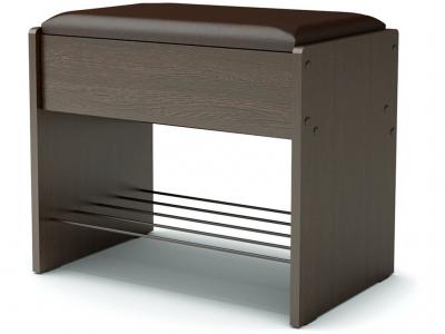 Банкетка с откидным сидением Венге - эко-кожа коричневая