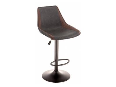 Барный стул Kozi серый - коричневый