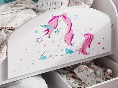 Бортик для кровати Эльза единорог
