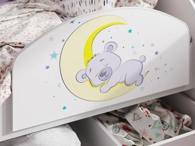 Бортик для кровати Эльза мишка