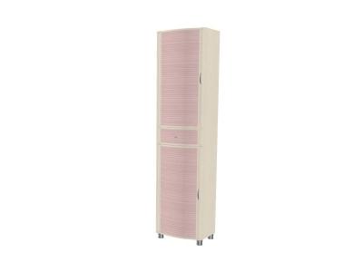 ШК-920 Шкаф для одежды и белья 2172х540х396 Дуб Беленый с розовыми вставками