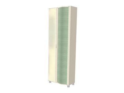 ШК-927 Шкаф 2172х712х396 Дуб Беленый с зелеными вставками
