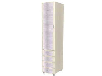 ШК-954 Шкаф многоцелевой 2172х448х620 Дуб Беленый с сиреневыми вставками