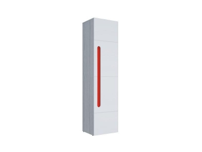 Шкаф 1-створчатый Палермо-3 Юниор красная вставка 536х2078х381 мм