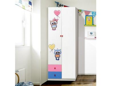Шкаф 2-х дверный с ящиками Совята 2.2
