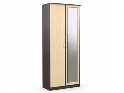 Шкаф 2-х створчатый Дуэт Люкс 960х450х2300 с зеркалом венге