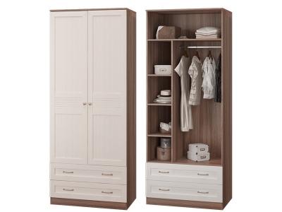 Шкаф 2-х дверный с 2 ящиками Лестер