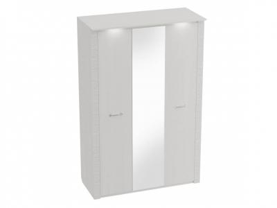 Шкаф 3-дверный Элана с подсветкой 1430х645х2185 Бодега белая