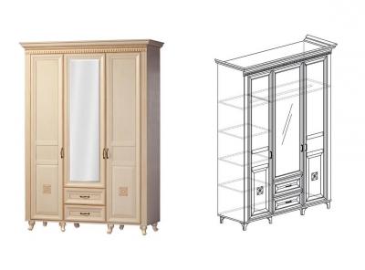 Шкаф 3-дверный Марлен 470 1568х2216х532 мм