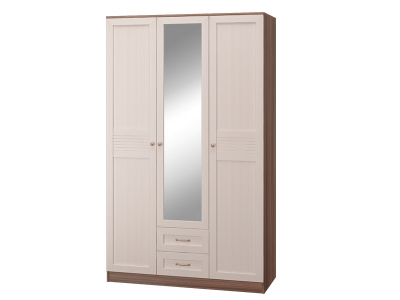 Шкаф 3-х дверный с ящиками с зеркалом Лестер
