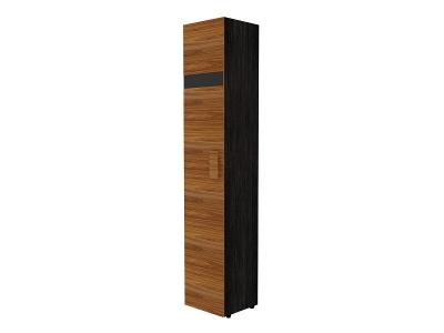 Шкаф для белья Гипер 2 Лев-Прав 400х389х2113 с фасадом в цвете Палисандр