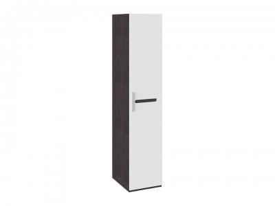 Шкаф для белья с 1 дверью Фьюжн ТД-260.07.01 Белый глянец, Венге Линум