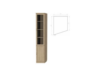 Шкаф для книг консоль левая артикул 201 дуб сонома