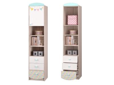 Шкаф для книг с 3-мя ящиками и дверккой Цирк