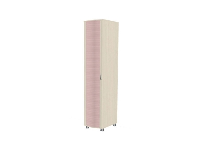 Шкаф для одежды и белья ШК-906 2172х448х620 Дуб Беленый с розовыми вставками