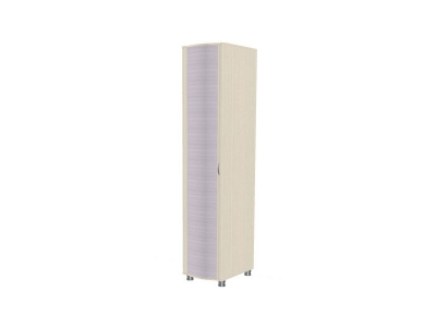 Шкаф для одежды и белья ШК-906 2172х448х620 Дуб Беленый с сиреневыми вставками