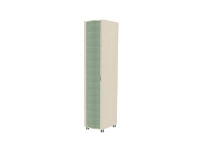 Шкаф для одежды и белья ШК-906 2172х448х620 Дуб Беленый с зелеными вставками
