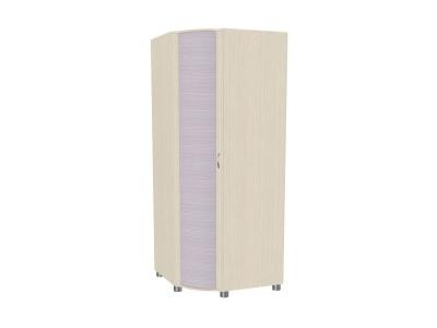 Шкаф для одежды и белья ШК-907 2172х891-891х620 Дуб Беленый с сиреневыми вставками