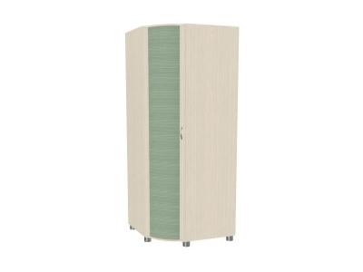 Шкаф для одежды и белья ШК-907 2172х891-891х620 Дуб Беленый с зелеными вставками