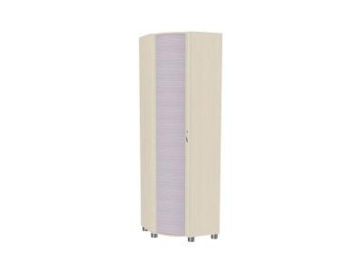 Шкаф для одежды и белья ШК-915 2172х670х670 Дуб Беленый с сиреневыми вставками