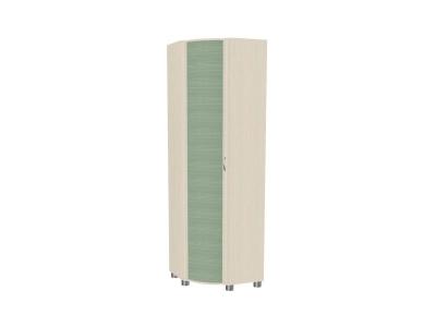 Шкаф для одежды и белья ШК-915 2172х670х670 Дуб Беленый с зелеными вставками