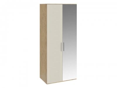 Шкаф для одежды с 1 глух. и 1 зерк. дверями Николь СМ-295.07.005 R Бунратти, Бежевый