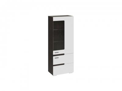 Шкаф для посуды Фьюжн ТД-260.07.27 Белый глянец, Венге Линум