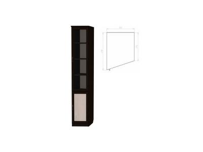 Шкаф для книг консоль левая артикул 201 венге