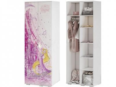 Шкаф для одежды ШК-09 Трио белый/рапунцель