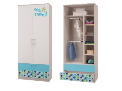 Шкаф для одежды с 2-мя ящиками Джимми 901х446х2136мм