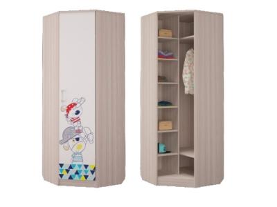 Шкаф для платья и белья угловой Джимми 761х761х2136 мм