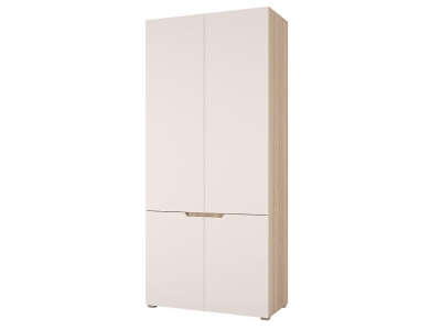 Шкаф двухстворчатый Анталия Сонома-Белый софт