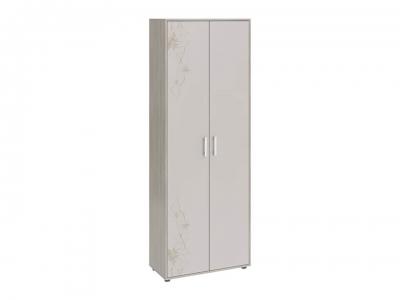 Шкаф комбинированный Витра тип 1 Ясень шимо, Бежевый глянец с рисунком