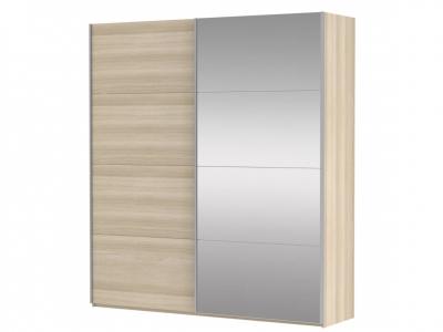 Шкаф-купе 2-х дверный Прайм ДСП/Зеркало Сонома