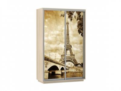 Шкаф-купе Фото Дуо Париж ясень шимо светлый