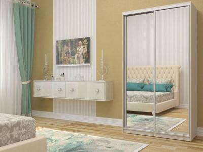 Шкаф-купе Ксения бодега светлая с двумя зеркалами