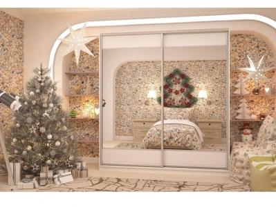 Шкаф-купе Юлия с 2-мя зеркалами белый