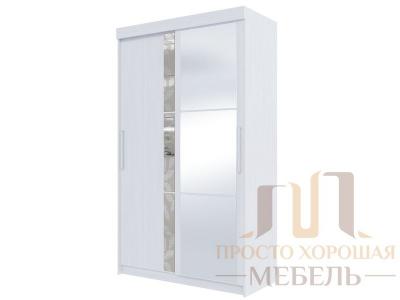 Шкаф-купе №21 1350 с 3 зеркалами и 3 стёклами