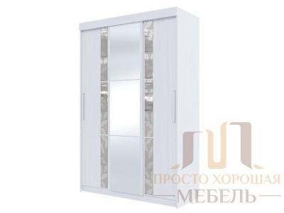Шкаф-купе №21 1500 с 3 зеркалами и 6 стёклами