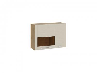 Шкаф настенный малый с 2 дверями Николь ТД-296.03.33 Бунратти, Бежевый