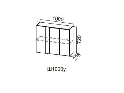 Шкаф навесной 1000 (угловой)/720 Ш1000у/720 Лофт
