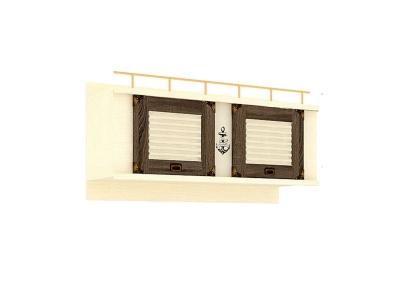 Шкаф навесной Калипсо ЛД.509050.000 1200х624х447 Сономе эйч темная
