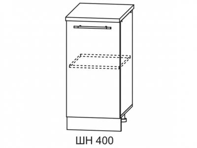 Шкаф нижний 400мм стол рабочий С 850х400мм МДФ сандал б/столешницы Империя