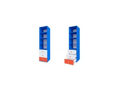 Шкаф открытый с ящиками ДМ-ШС-2-5 Пожарный 458-504-1806