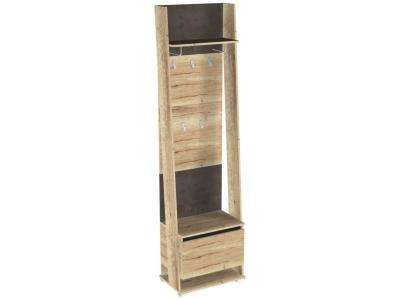 Шкаф открытый с вешалкой Стреза ПС-2 600х375х2200