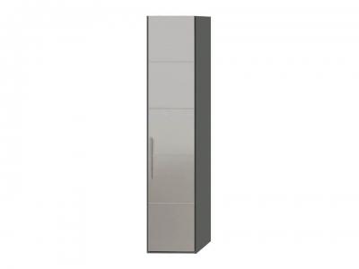 Шкаф с 1 зерк. дверью правый Наоми СМ-208.07.02 R Серый, Джут