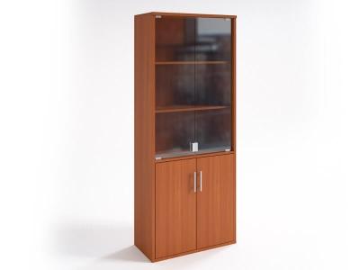 Шкаф со стеклянными дверцами НШ-2 Вишня Оксфорд