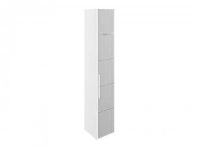 Шкаф торцевой с 1 зерк. дверью правый Наоми СМ-208.07.09 R Белый глянец