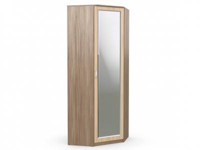 Шкаф угловой Дуэт Люкс 866х866х2300 с зеркалом ясень шимо