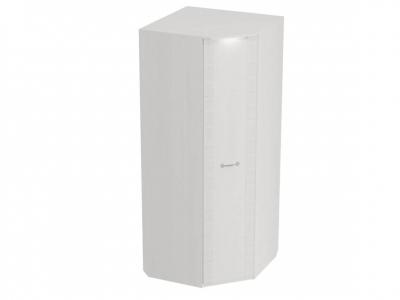 Шкаф угловой Элана с подсветкой 900-645х900х2185 Бодега белая